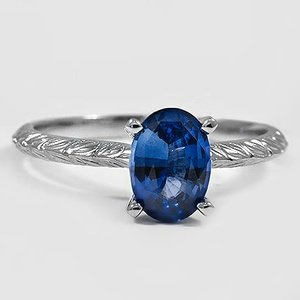 18K White Gold Sapphire Garland Ring