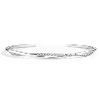 Diamond Accented Cuff Bracelet