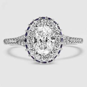 Platinum Circa Diamond Ring with Sapphire Accents (1/3 ct. tw.)