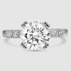 Platinum Posie Diamond Ring