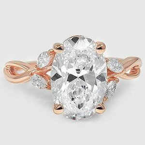 14K Rose Gold Willow Diamond Ring (1/8 ct. tw.)