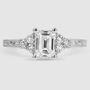 18K White Gold Adorned Trio Diamond Ring