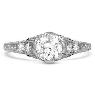 the lyell ring - Art Deco Wedding Rings