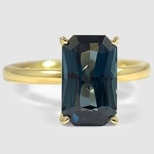 18K Yellow Gold Sapphire 2mm Comfort Fit Ring