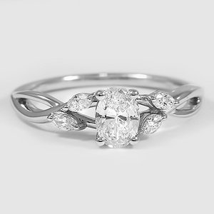 18K White Gold Willow Diamond Ring (1/8 ct. tw.)