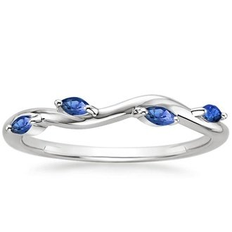 18K White Gold WINDING WILLOW SAPPHIRE RING