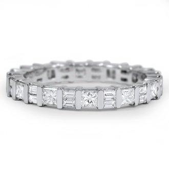 Custom wedding rings brilliant earth eternal princess and baguette diamond ring junglespirit Images