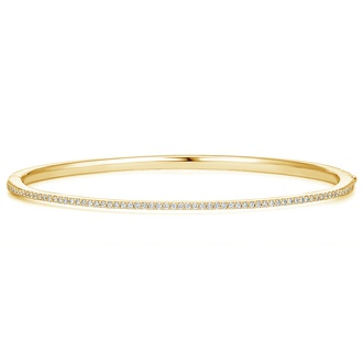 Delicate Diamond Bangle Bracelet