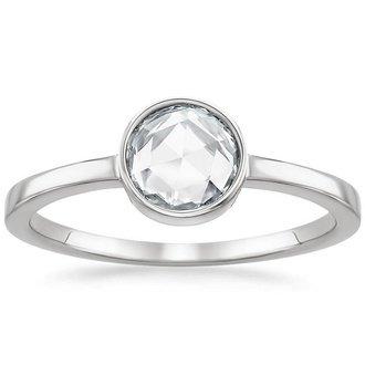 18K White Gold. ROSEBUD DIAMOND RING ...