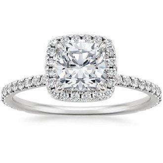 Beau 18K White Gold. WAVERLY DIAMOND RING ...