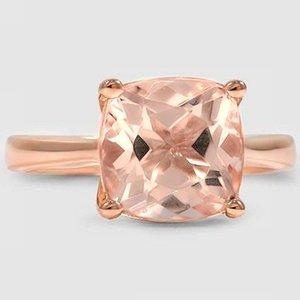 14K Rose Gold Sapphire Petite Tapered Trellis Ring