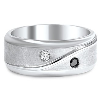 Matte Diamond Band Ring