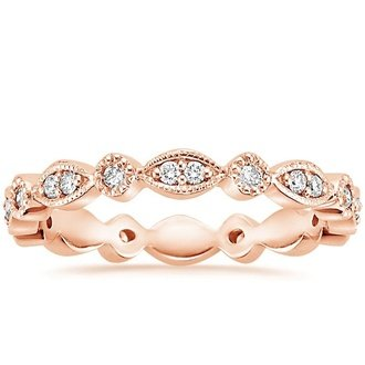 14K Rose Gold. TIARA ETERNITY DIAMOND RING ...