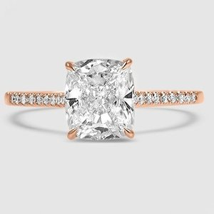 14K Rose Gold Lissome Diamond Ring