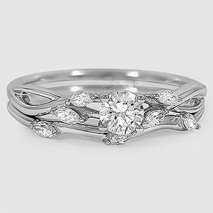 18K White Gold Willow Bridal Set (1/4 ct. tw.)