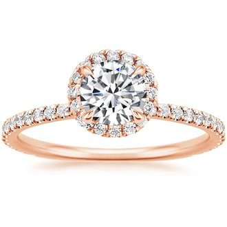 14k rose gold - Rose Wedding Rings