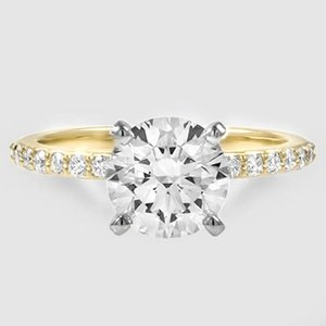 18K Yellow Gold Petite Shared Prong Diamond Ring (1/4 ct. tw.)
