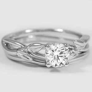 18K White Gold Budding Willow Matched Set