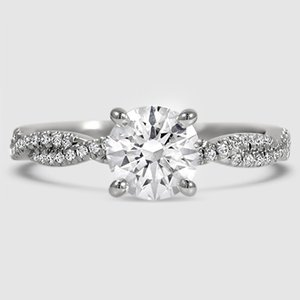 Platinum Petite Luxe Twisted Vine Diamond Ring (1/4 ct. tw.)
