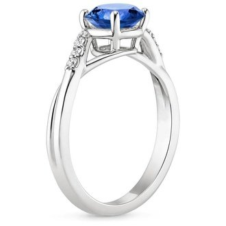 18k white gold sapphire chamise diamond ring - Wedding Rings With Sapphires