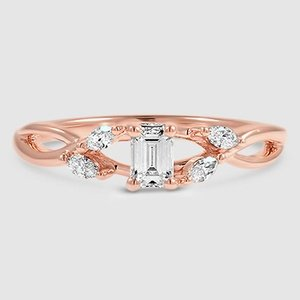 14K Rose Gold Willow Diamond Ring