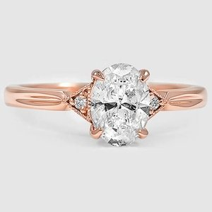 14K Rose Gold Olivetta Diamond Ring
