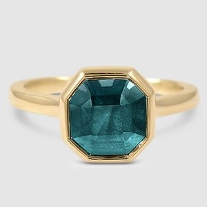 18K Yellow Gold Sapphire Luna Ring