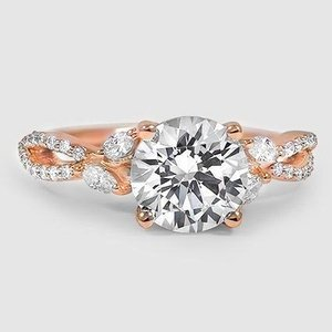 14K Rose Gold Luxe Willow Diamond Ring (1/3 ct. tw.)