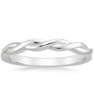 18k white gold twisted vine ring - Ring Wedding