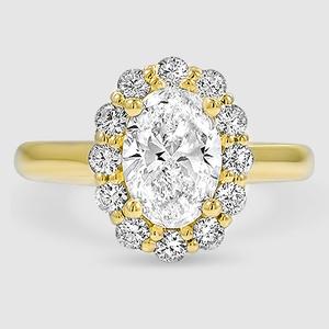 Flower engagement ring lotus brilliant earth 18k yellow gold lotus flower diamond ring 14 ct tw mightylinksfo