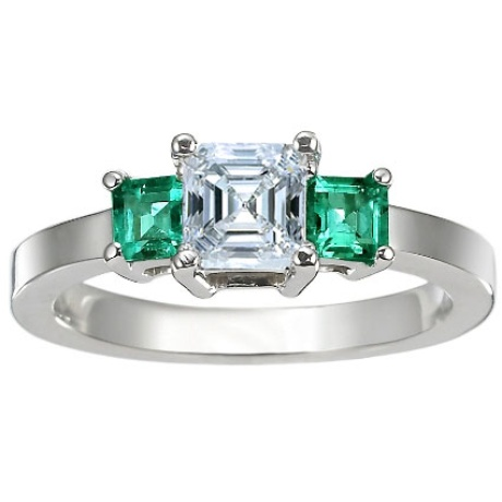 gemstone style emrald classic setting with in natural gold and white antique emerald rings ring htm gr diamond