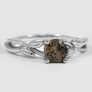 Platinum Sapphire Budding Willow Ring