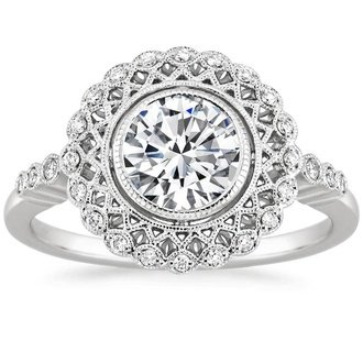 18k white gold alvadora diamond ring - White Gold Wedding Rings