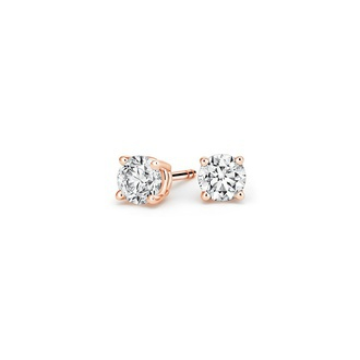 Round Diamond Stud Earrings (1/2 ct. tw.) Image