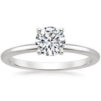 cut diamond engagement wedding ring solitaire circle round rings