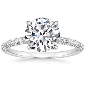 18k white gold valencia diamond ring - Contemporary Wedding Rings