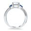 Entwined Channel Diamond Ring, smallside view