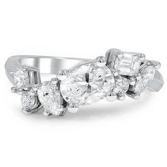 assorted diamond cluster ring - Wedding Ring Design