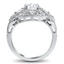 Pierced Halo Diamond Ring, smallside view