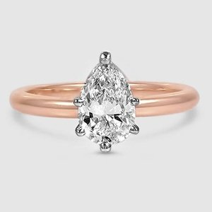 14K Rose Gold 2mm Comfort Fit Ring
