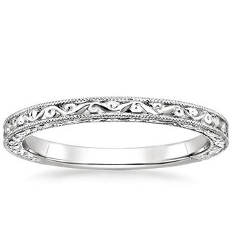 18k white gold hudson ring - Wedding Ring Bands
