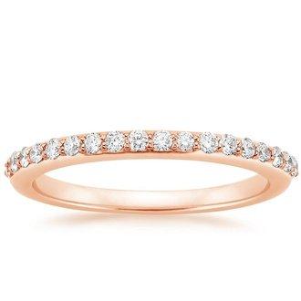 14K Rose Gold. PETITE SHARED PRONG DIAMOND RING ...