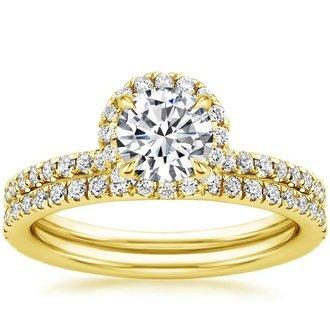 Yellow Gold Bridal Sets Wedding Ring Sets Brilliant Earth