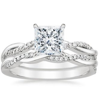 Princess Cut Bridal Sets Wedding Ring Sets Brilliant Earth