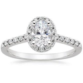 18k white gold odessa diamond ring - Oval Wedding Rings