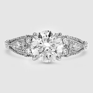 Platinum Rosabel Diamond Ring