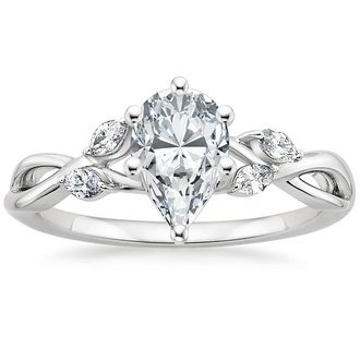 18K White Gold. Willow Diamond Ring ...
