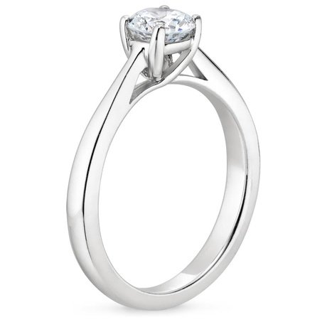 gabriel engagement trellis setting ring with gold white round solitaire rings