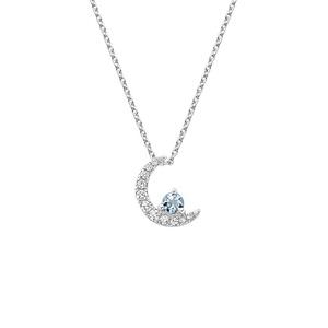 Amazonite Cresent Moon Necklace Pendant