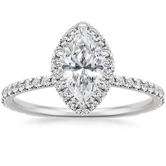 18k white gold waverly diamond ring - Marquise Wedding Rings